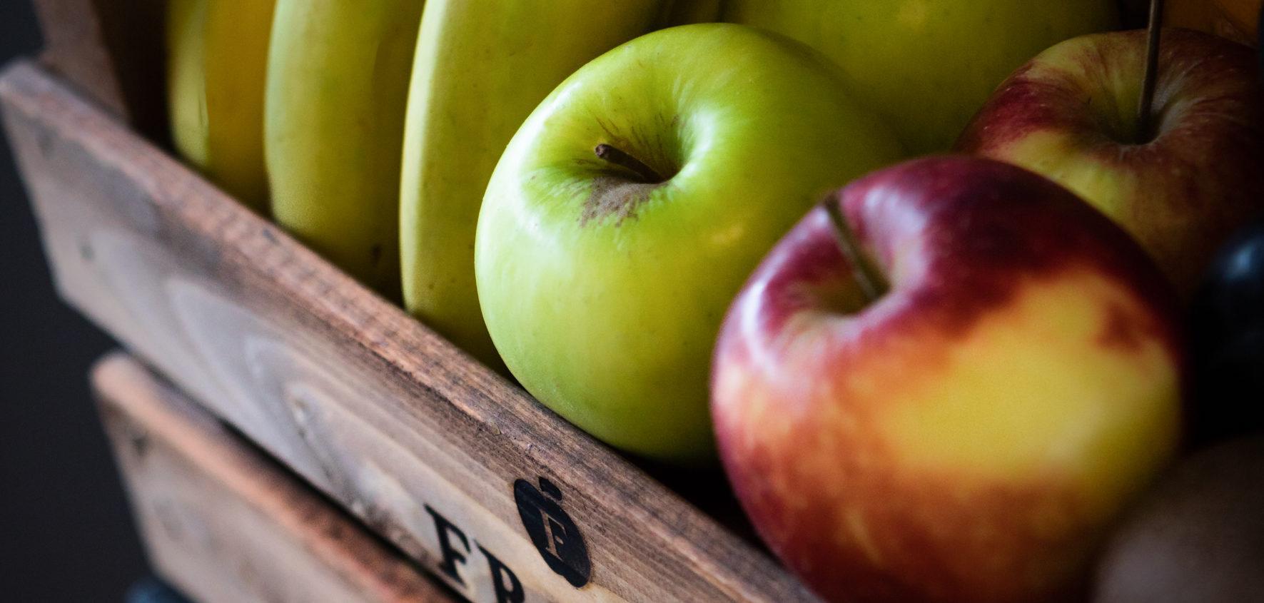 fruit in een krat